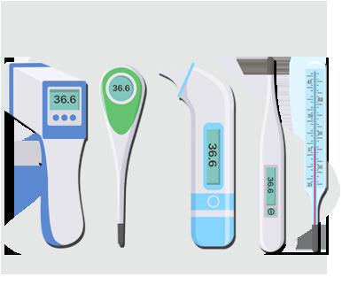 Teplotu tela je možné merať niekoľkými typmi teplomerov a na rôznych častiach tela
