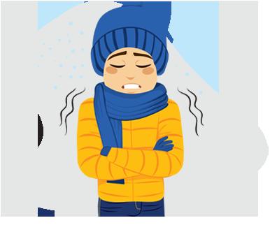Stav, kedy telesná teplota klesá pod 35,0 °C sa nazýva odborne hypotermia